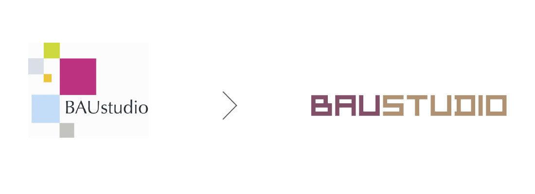 baustudio logo redesign alt und neu