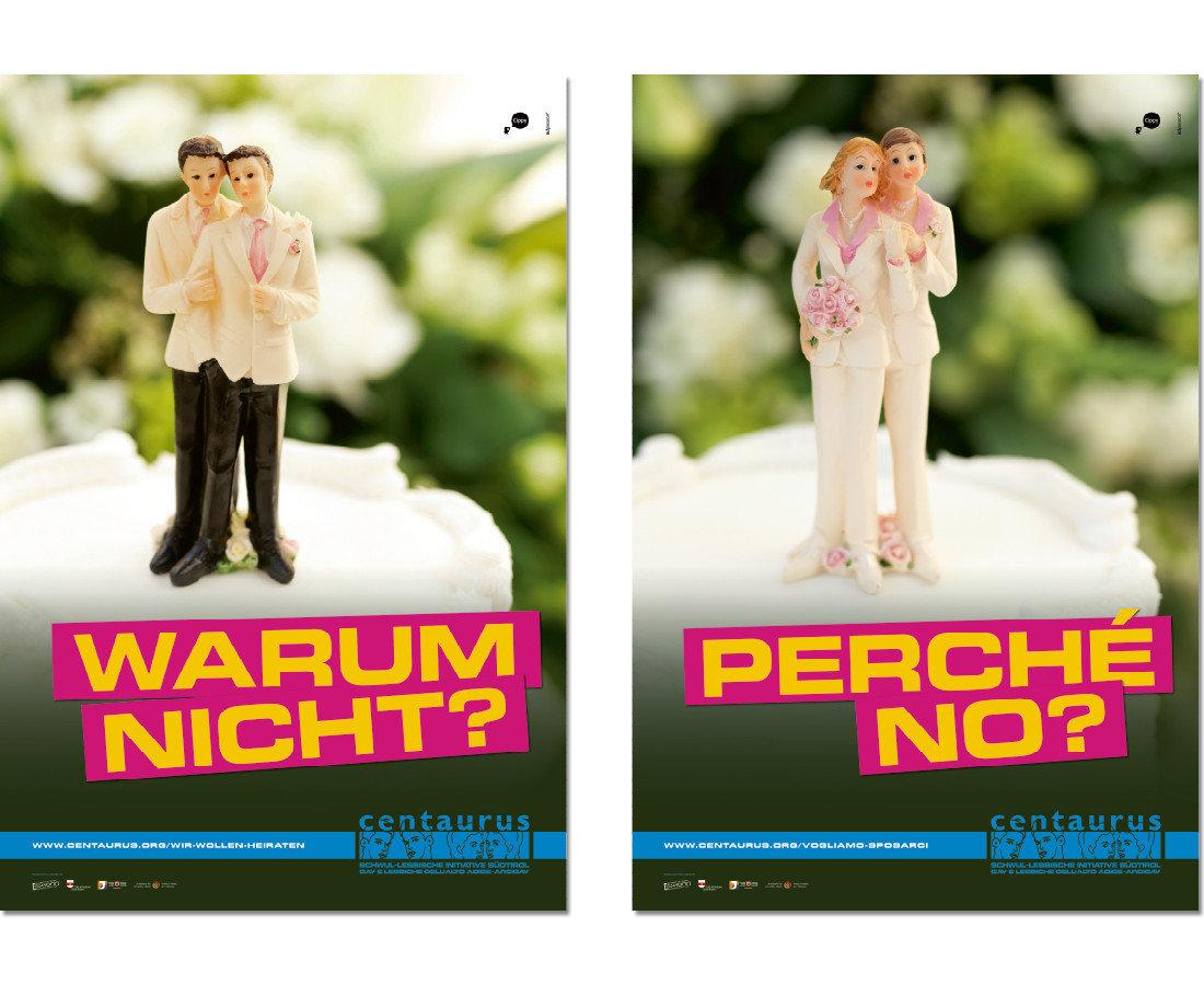 Centaurus Plakat Schwule Hochzeit