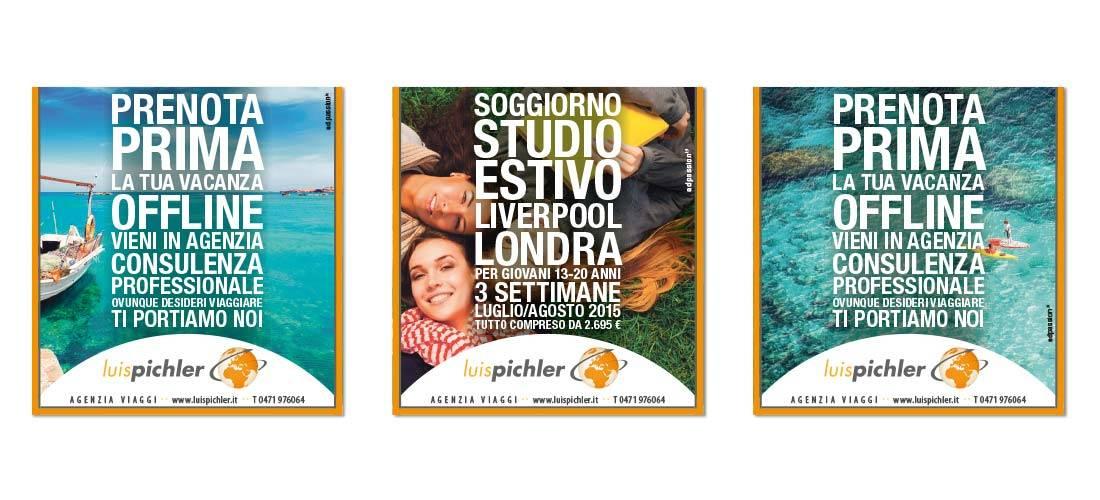 agenzia viaggi martin pichler, consulenza vacanza off line, pubblicità annuncio su alto adige a bolzano