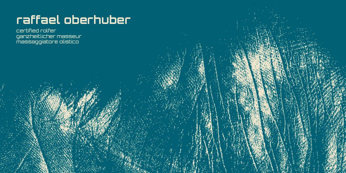 logo certified rolfer von Raffael Oberhuber aus Völs, Bozen Südtirol. corporate design mit scan effect von adpassion