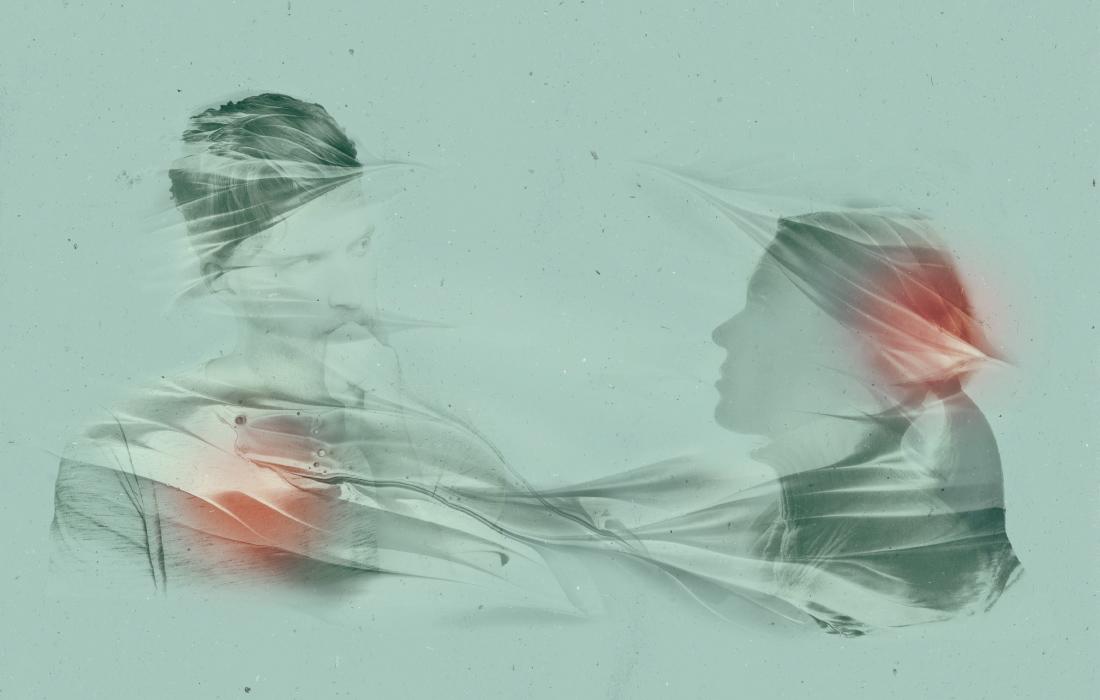Composizione d'immagini con tecnica double exposure per l'associazione professionale per supervisione, coaching e sviluppo organizzativo Alto Adige. Design Waldemar Kerschbaumer, adpassion Bolzano.
