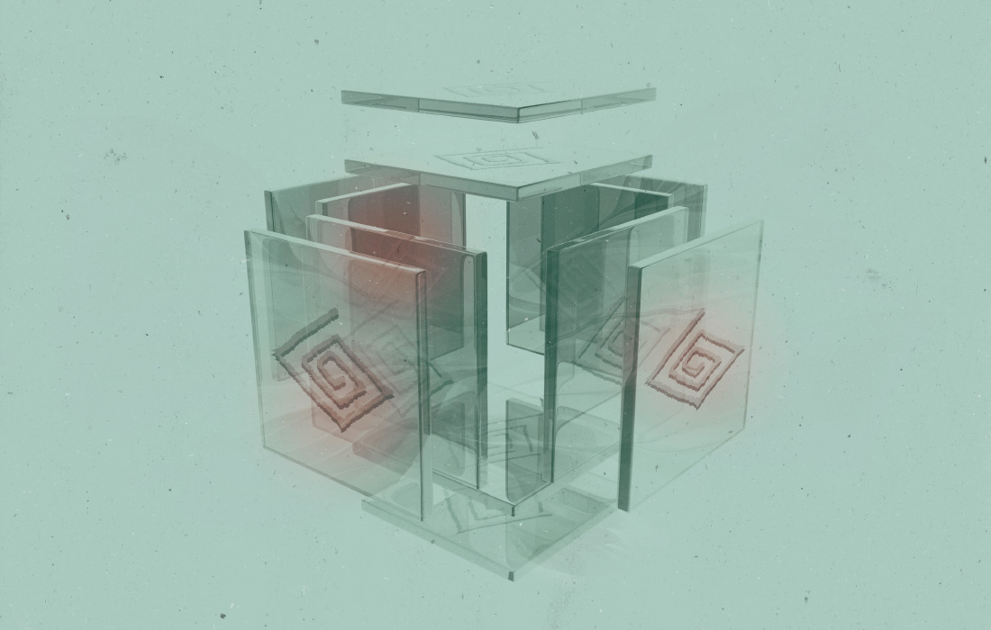 Visualizzazione dell'associazione professionale per supervisione, coaching e sviluppo organizzativo (ASC). Illustrazione 3D e Logo ASC. Composizione da adpassion Bolzano.