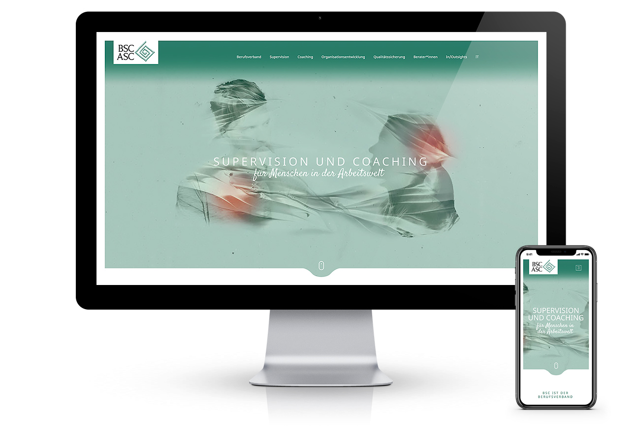 Webagentur Südtirol, Erstellung Website. Referenzen: Berufsverband BSC. Programmierung adpassion.